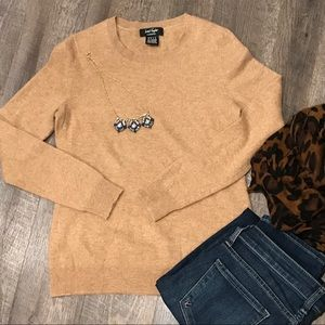 Lord & Taylor Cashmere Classic Camel/Tan Sweater S